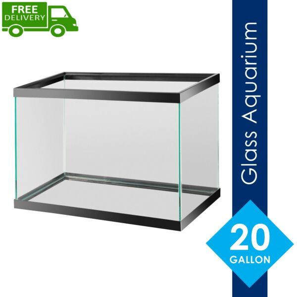 New Aqua Culture Aquarium 20 Gallon ECOM 20H long fish Tank Free Fast Shipping $58.90