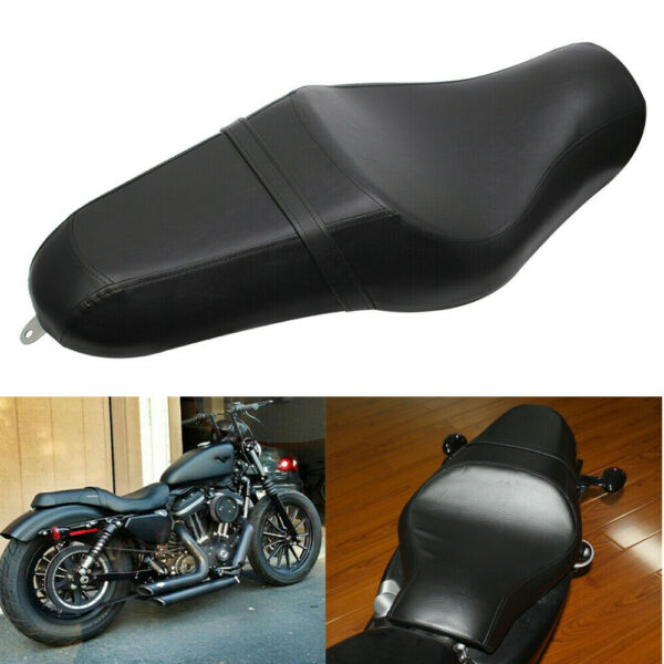 Motorcycle Driver Rear Passenger Two Up Seat for Harley Sportster XL 883 1200 48 $79.99