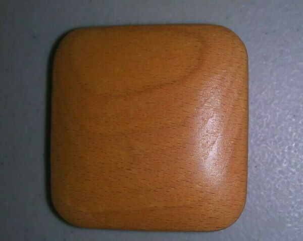 Longaberger 2quot; square wood replacement knob for any lid MINT and FREE SHIPPING $9.99