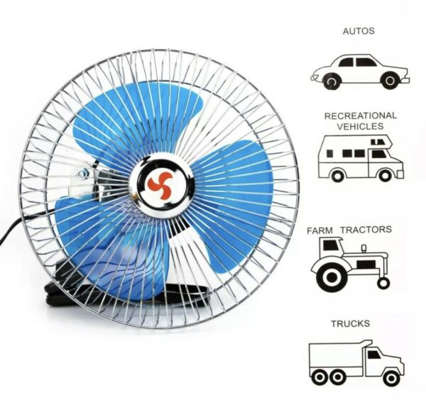 """8"""" Fan With Clip For Car Portable Mini 12 V Volt Electric Cooling Suv Truck Auto $24.60"""