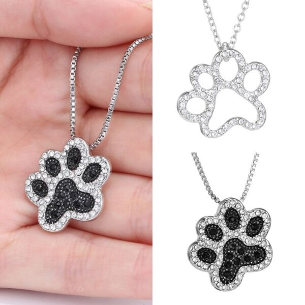 1Pcs Chic Style Dog Paw Silver Chain Pendant Women Necklace Jewelry Charm Gifts C $2.56
