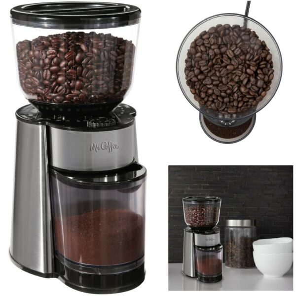 Commercial Coffee Grinder Electric Grind Automatic Burr Mill Bean Home