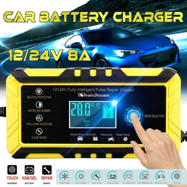 12 24V 8A Automatic Car Battery Charger Pulse Repair Starter $26.49
