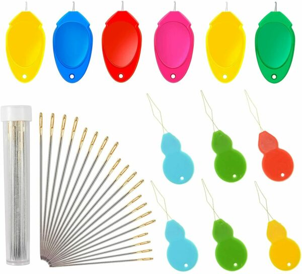 Needle Threader for Hand Sewing 10 Pcs Plastic Wire Loop Simple DIY Sewing New $6.18