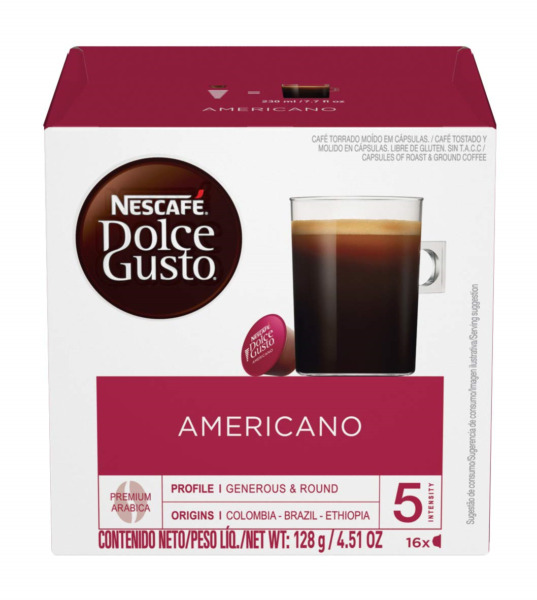 Nescafe Dolce Gusto Coffee Pods Americano 16 capsules Pack of 3 total 48 5 21