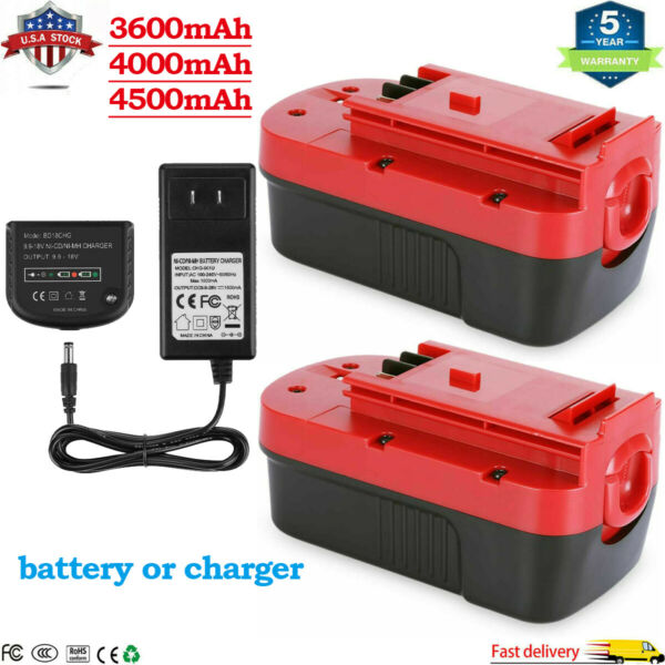 18V HPB18 Battery OR Charger For BLACKamp;DECKER NI Mh 4.5Ah HPB18 OPE 244760 00