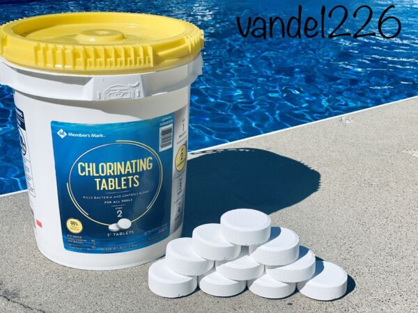 🔷Members Mark 3quot; CHLORINE TABLETS Pool 10 per order 5 lbs. 🔹Same Day Shipping