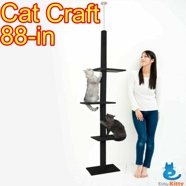 Cat Tree 3 Tier Floor to Ceiling Carpet Tower House Condo Furniture Post Scratch $57.89