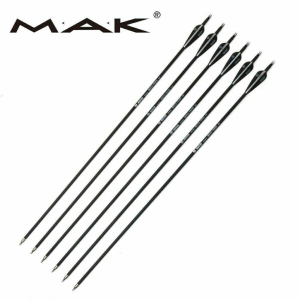 USA 6Pcs 30quot; Mixed Carbon Arrow Archery SP 500 For Compound Recurve Bow Hunting $14.87