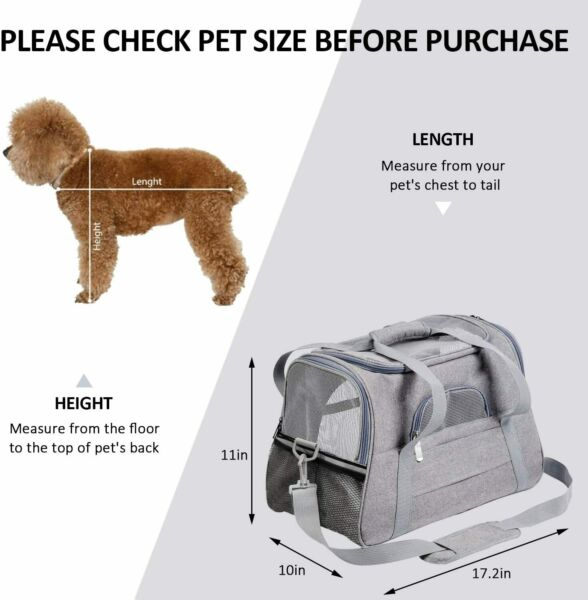 Pet Carrier Airline Approved Pet Carrier Dog Carriers for Small Dogs Cat Carrie $23.99
