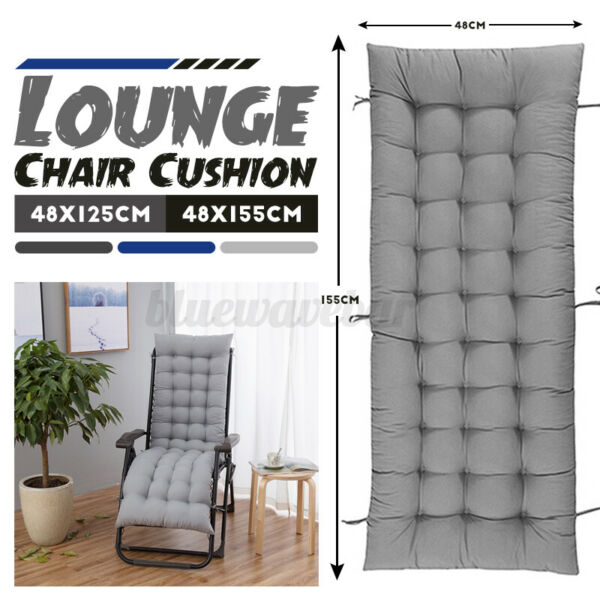 69quot; 49.21quot; Length Chair Cushion Lounge Mat Padding Office Indoor For Recliner $22.31