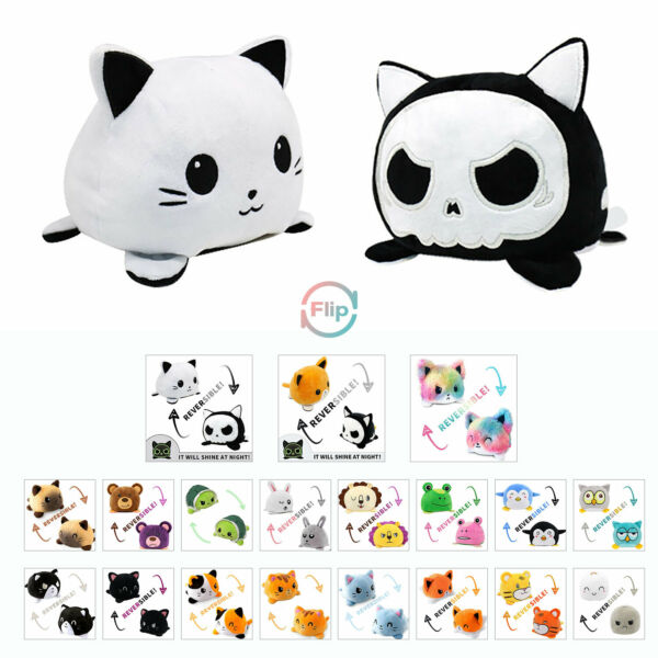 Reversible Flip Animals Toy Plush Doll Soft Stuffed Home Accessories Baby Gift $9.39