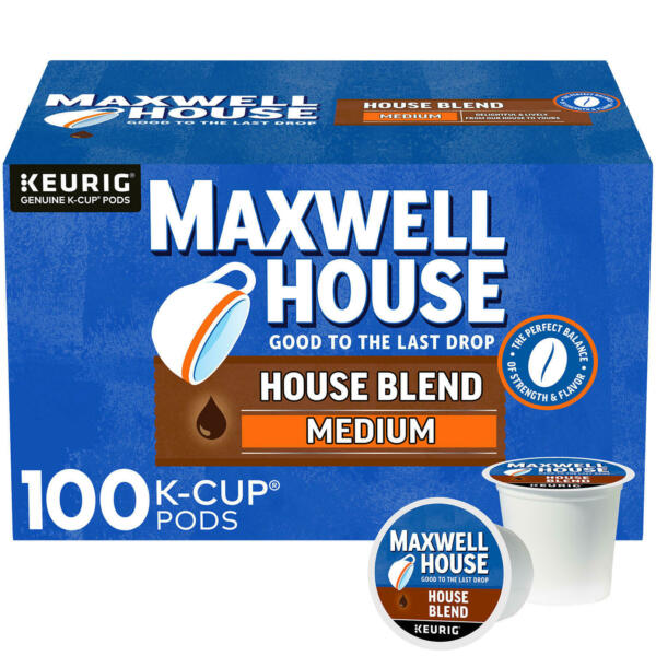 Maxwell House House Blend K Cup Coffee Pods 100 ct. FREE SHIPPING