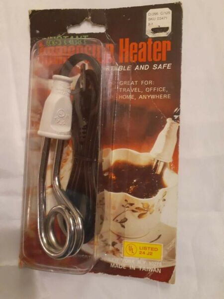 instant immersion heater for coffee or tea use anywhere vintage $15.99