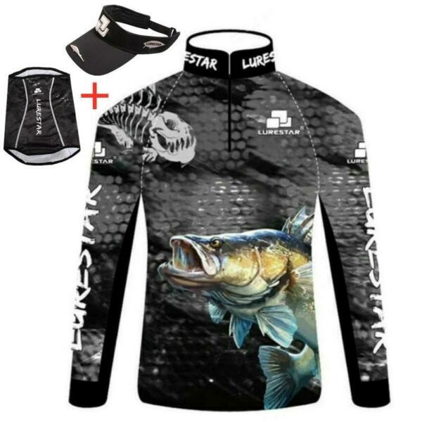 Mens Fishing Clothes Ice Silk Sunscreen Breathable Quick Dry Long Short Sleeve