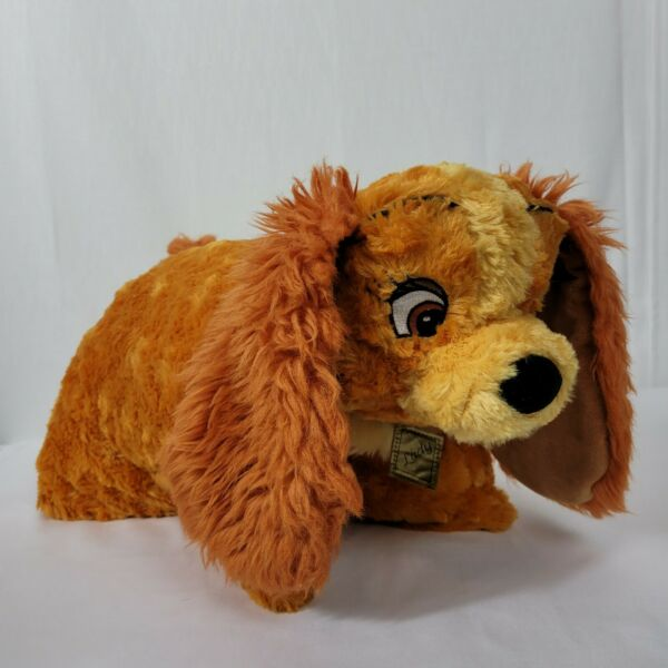 Disney Parks Dream Friends Lady and the Tramp Dog 20 Inch Pillow Pet Plush Doll $19.99