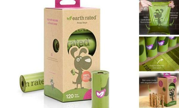 Bags Poop Dog Rated Earth Extra Thick Strong And Dogs 8 Rolls 9 x 13 Inches $10.18