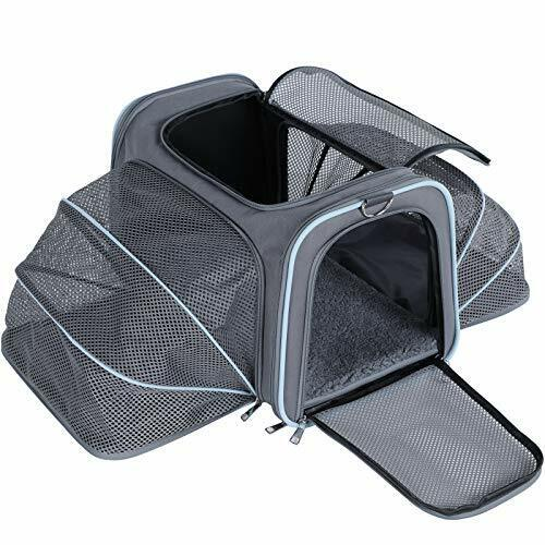 A4Pet Airline Approved Cat Carrier Expandable Dog Carriers Soft Sided Portable $69.98