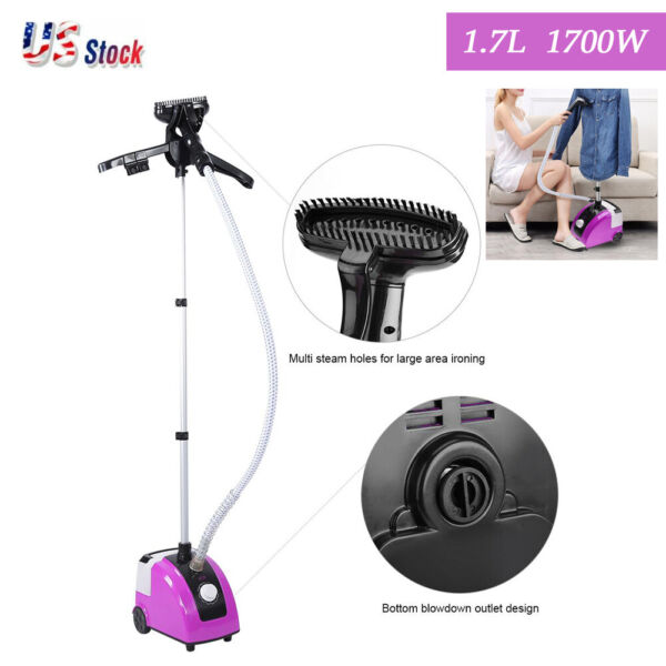 Fabric Steamer Portable Handheld Steam Cleaner Clothes Garment Iron Upright