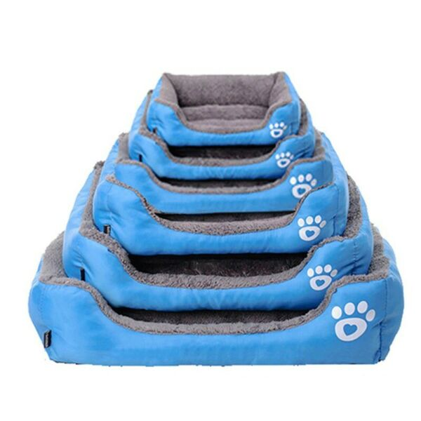Dog Bed Warm Dog House Soft Nest Dog Baskets Waterproof Kennel For Puppy Mat Pad $14.85