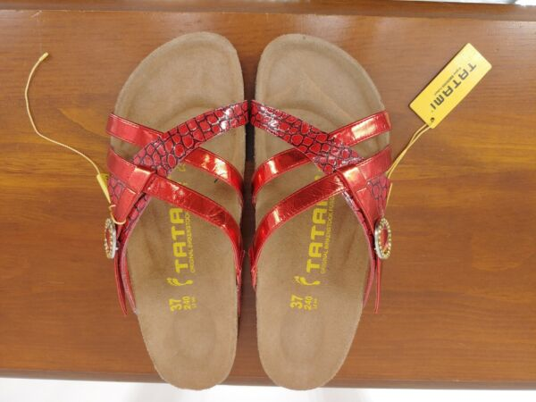 NWT Tatami by Birkenstock Tready Red Sandals Size 37