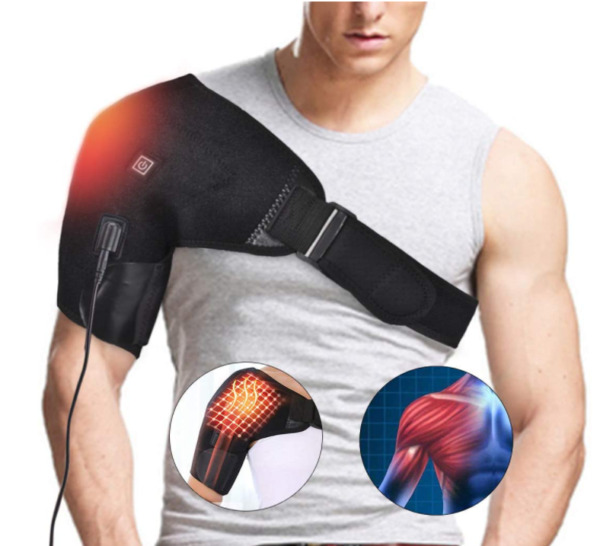 Heated Shoulder Brace Support Wrap 3 Heat Settings Heating Pad Support $35.30