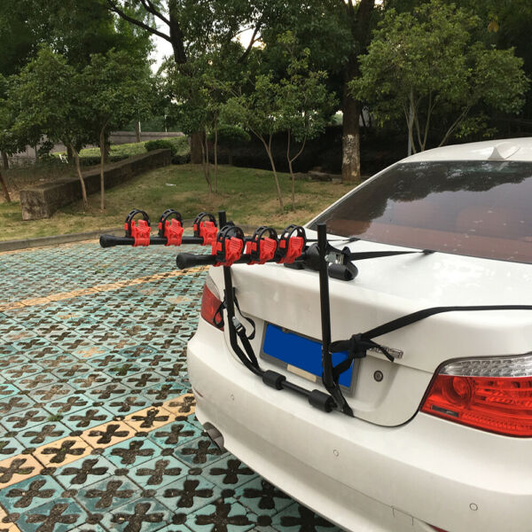 Portable Trunk Mounted Bike Rack Quick Release Bicycle 3 Bike Carrier Car Sport $53.19