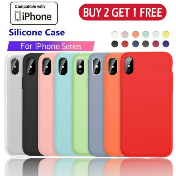 Liquid Silicone Case Camera Lens Cover For iPhone 11 Pro XS Max XR X 8 7 6 Plus