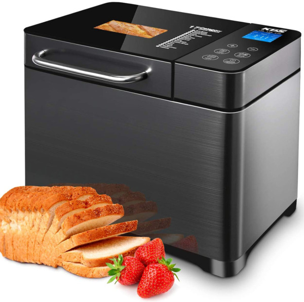 Kbs 17 In 1 Bread Maker Machine With Dual Heaters 710W Bread Machines With Glut