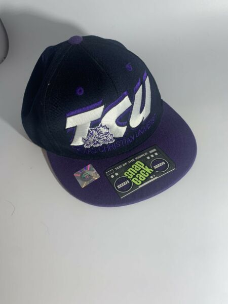 TCU Texas Christian Horned Frogs Top of the World Snapback Hat Cap $14.00