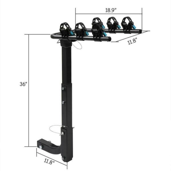 Hitch Mount Carrier 3 Bike Mount Heavy Duty Bicycle 3quot; Rack Car Truck SUV NEW $67.99