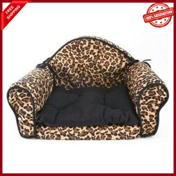 Leopard Print Small Dog Cat Pet Bed Pillow Cushion Sofa Couch Design New $34.97