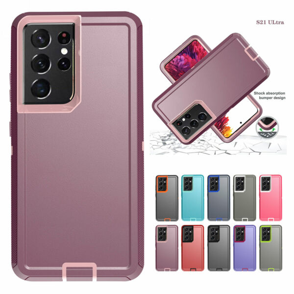 Hard Heavy Duty Phone Case For Samsung Galaxy S21 S20 Plus Note 20 Ultra Cover $7.98