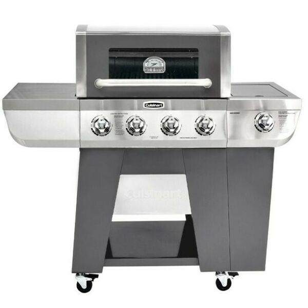 Cuisinart Deluxe Four Burner Propane Gas Grill with Side Burner