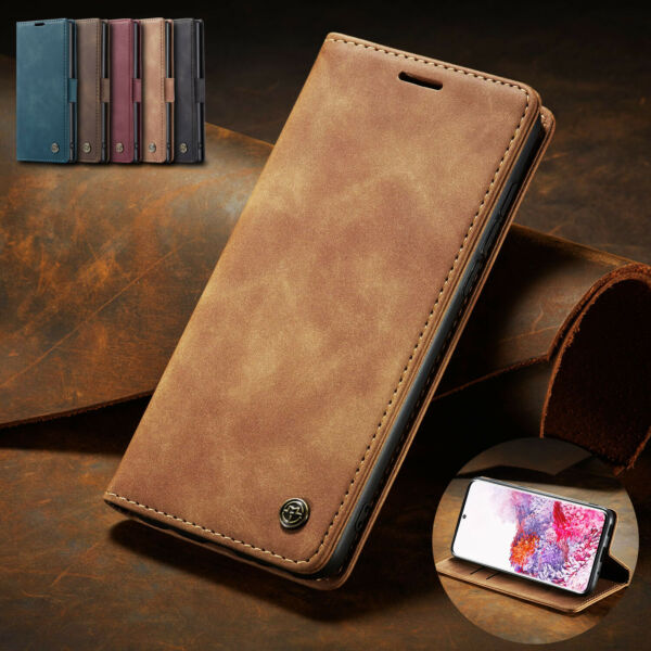 For Samsung Galaxy S21 Ultra S20 Plus S20 FE 5G Leather Wallet Phone Case Cover