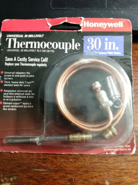 Honeywell CQ100A1039 30 in. Replacement Thermocouple for Gas Furnaces 30 mV $12.99