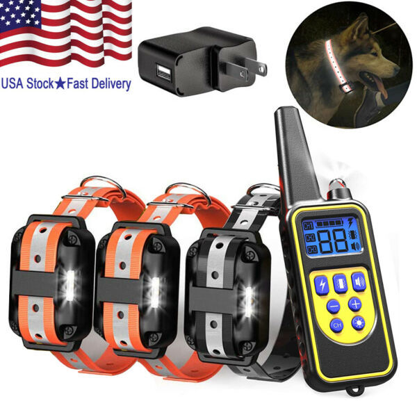 2600FT Rechargeable Dog Training Collar with Remote Shock Beep Waterproof Collar $26.99