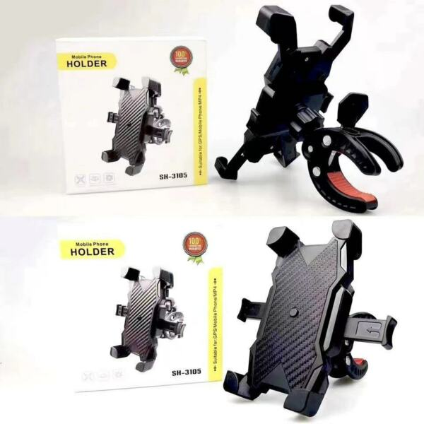 Silicone Motorcycle Bike Handlebar Bicycle For MTB GPS Cell Phone Holder Mount $8.99