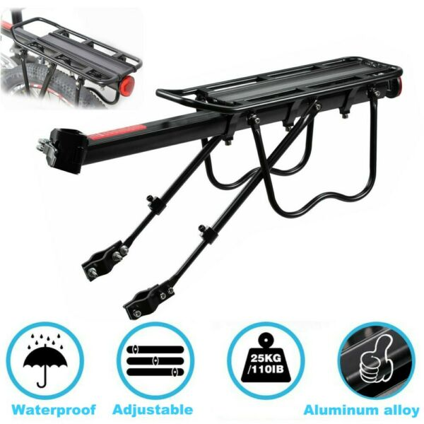 Bike Bicycle Rear Rack Seat Post Mount Pannier Luggage Alloy Carrier Holder $19.99