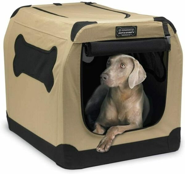 Dog Pet Cat Crate Kennel Portable Soft Fabric Home Travel Lightweight Durable XL $59.99