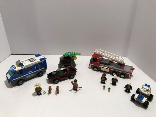 LEGO Town: City LOT: Police Dog Van 4441 Firetruck from 60004 Quad 30013. $40.00
