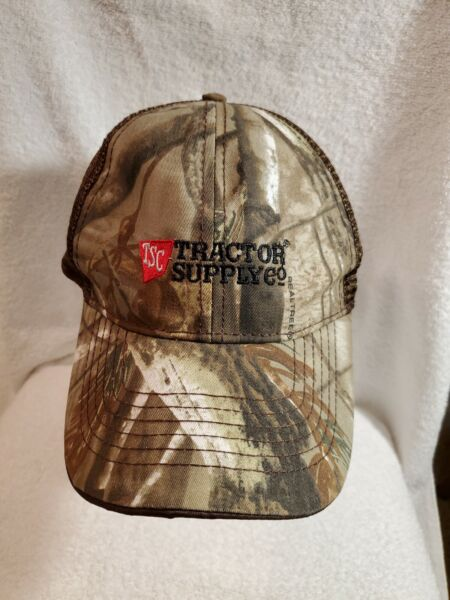 Tractor Supply Co men#x27;s hat camouflage mesh adjustable strap outdoors $13.00