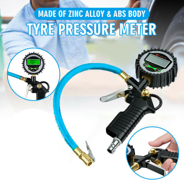 Digital Air Tire Inflator with Pressure Gauge 200PSI Chuck for Car Bike US USA $15.59