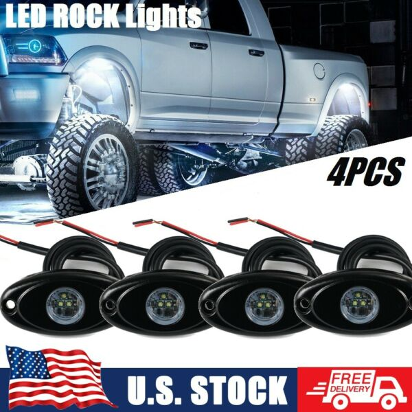 4x Pods 2quot; Underbody LED Rock Lights Accent Under For Ford F 150 F250 F350 White $25.00