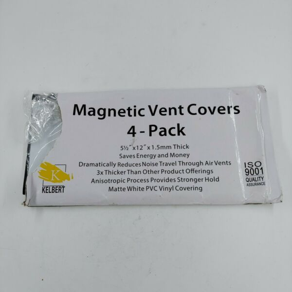 Kelbert Magnetic Vent Cover 8quot; x 15.5quot; Extra Thick Wall Floor Ceiling 4 Pk $22.65