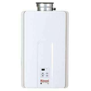 Rinnai V65IN 6.5 GPM Residential Indoor Natural Gas Tankless Water Heater with 1 $458.99