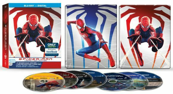 New Steelbook Spiderman Collection: 5 Films Blu ray