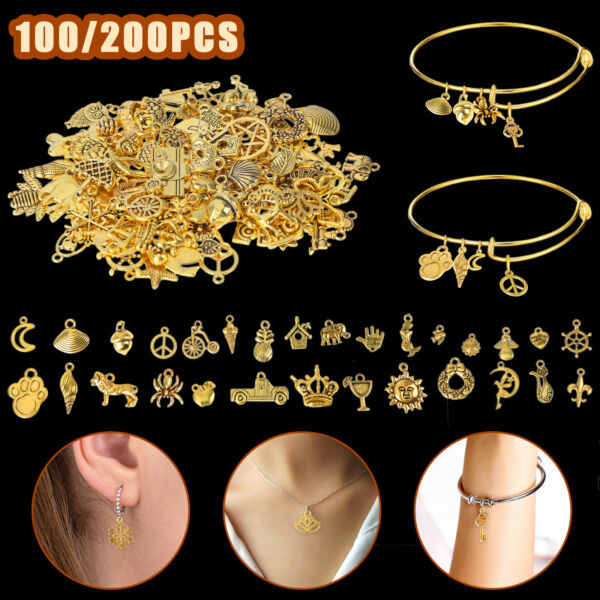 200 100X DIY Jewelry Accessories Charms Pendant Making Necklace Jewelry Craft US $10.98