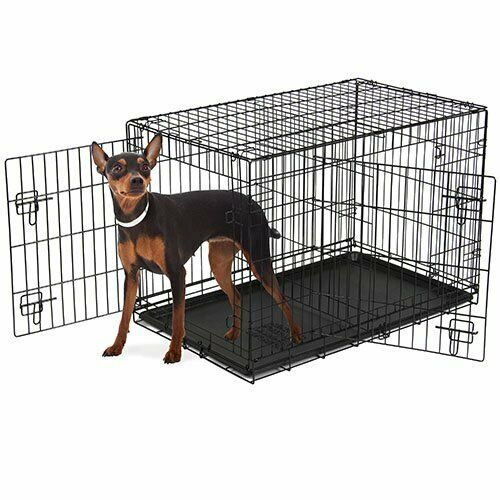 Vibrant Life Double Door Folding Dog Crate with Divider XX Large 48quot; $68.99