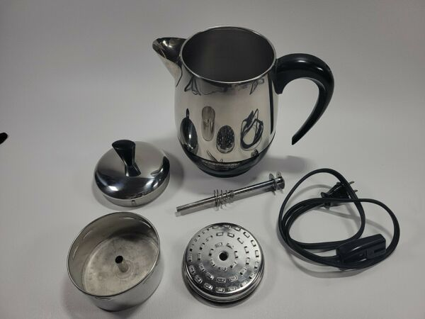 Vintage Faberware Superfast 2 4 Cup Electric coffee Percolator Maker 134 TESTED